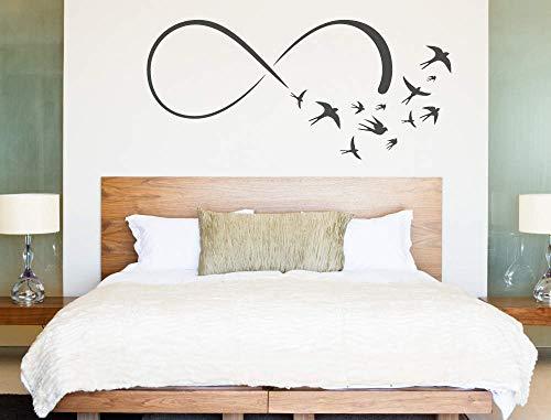 Muursticker oneindigheid tekenen vogels vleugel stickers oneindigheid teken vrijheid eeuwigheid symbool gemakkelijk aan te brengen en verwijderd