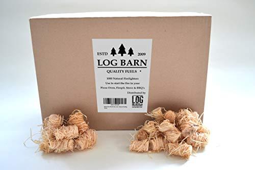 Arrancador de fuego de lana de madera (1000 piezas) Luces Kindling, carbón...