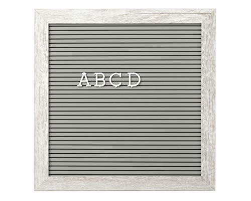 Kate & Milo Letterboard Set, Perfect Message Board for Sharing Back to School Milestones or Baby Announcements, Rustic Nursery, Gray