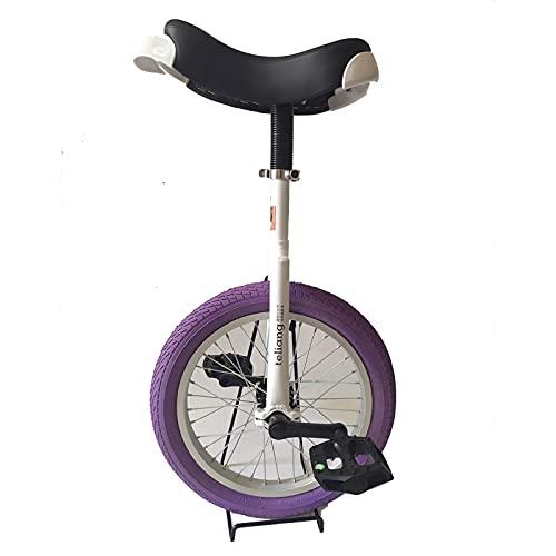 JLXJ Monociclos Bicicleta Monociclo para Niños Unisex, Asiento Ajustable de 16 Pulgadas Bicicleta de Una Rueda para Fitness Al Aire Libre, Rueda de Neumático de Butilo a Prueba de Fugas, Carga: 150kg