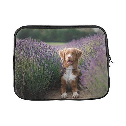 JOCHUAN Design Benutzerdefinierte Hund Lavendel Blumen Schöne Pet Nova Sleeve Weiche Laptop Tasche Tasche Haut Für MacBook Air 11