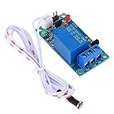 Sensor de luz de Photoswitch, módulo de relé de fotoresistor de sensor de detección de interruptor de control de luz de 12 V con cable de extensión