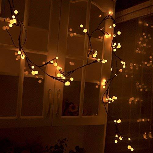 winhot guirnalda luces,72 LED,8.2 Ft Globe guirnalda, Diseño de vid bombillas decoración, Para interior y exterior boda cumpleaños tarde ,Party,Guirnalda luces exterior