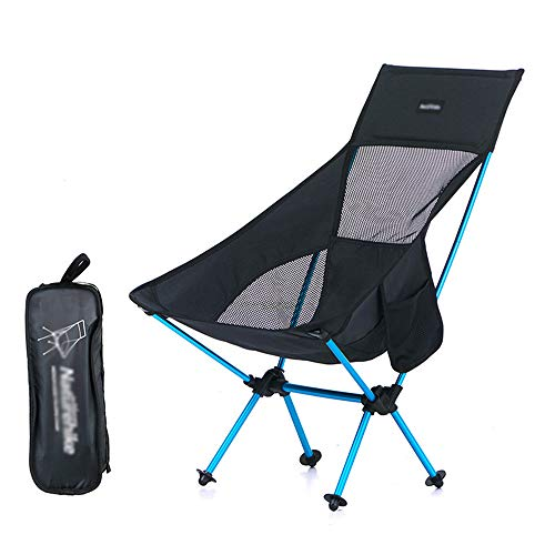 JDH Folding Camping Backpack Chairs, Portable Lightweight Compact Fishing Seat with Carry Bag, Perfect for The Outdoors Camping Hiking Travel, Black