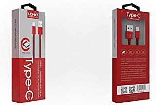كابل لدنيو نوع سي للشحن ونقل البيانات - LS60 2.4 امبير - أحمر