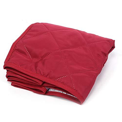 40.6x23x25.4CM Vino Rojo/Negro/Cafetera Protector para el hogar Sopa cuadrada Olla Cubierta a prueba de polvo para electrodomésticos de cocina(Vino rojo)