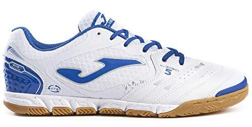Joma Zapatos de fútbol Liga 5 Interior 902 White-Royal Calcetto Scarpa