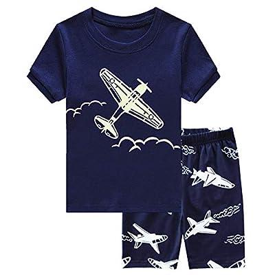 Family Wear Little Boys Girls Pajamas Sets 100% Cotton Pjs Glow in The Dark Pyjamas 4 5 T