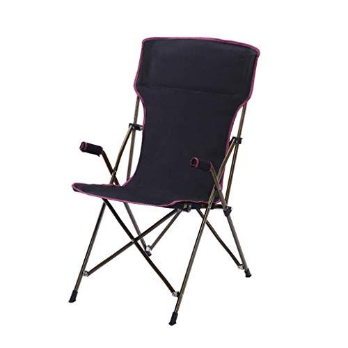 Camping Extérieur Chaise Pliante Fauteuil De Salle À Manger Chaise Walker Plage De Pêche Croquis De Camping Croquis Loisir Lounge Chair Charge Maximale 100KG Noir