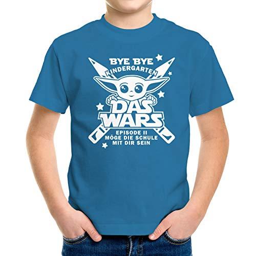 MoonWorks® - Camiseta para niño Bye Bye Bye Infantil - La Wars - Episodio 2 Möge die Schule mit ti - Regalo para la escuela - Star El océano de las Galaxias 122/128 cm