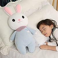 ぬいぐるみクリエイティブなおもちゃかわいいウサギの毛皮のぬいぐるみ40 / 55cmの柔らかいかわいいぬいぐるみドルダウンコットンスイングおもちゃの子供たち(色:B、サイズ:55 cm)