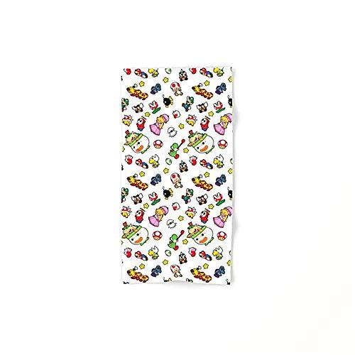Dutars Es un patrón de Super Mario. Divertido microfibra multiusos suave absorbente toalla de baño, toallas de mano, toallas de baño, toallas de hotel y toallas de gimnasio de 30,5 x 69,8 cm.