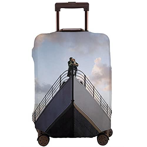 Titanic Viaggio Bagagli Custodia Protettiva Cintura Elastica Custodia Protettiva Anti-Graffio Spessa Elastico Maniche Lavabile Antipolvere Stampa, bianco, S,