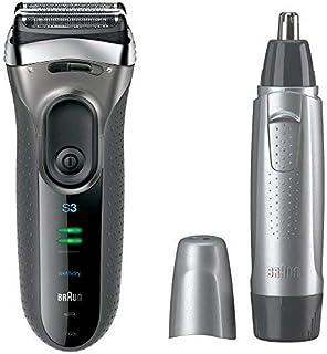 【セット買い】ブラウン シリーズ3 メンズ電気シェーバー シルバー 3080s-S + 鼻毛カッター EN10