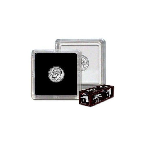 2×2 Coin Snap Holder Dime (17.9mm) Box of 25