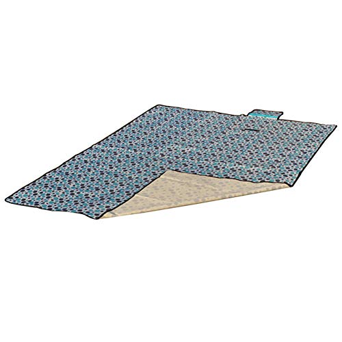 DianShaoA Picknickdecke Wasserdicht Outdoor, Stranddecke Outdoordecke Kariert Blau Punkt 150 * 180