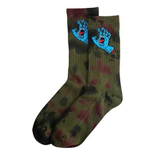Santa Cruz Screaming Hand Tie Dye Socken – Schwarz / Traube / Grün