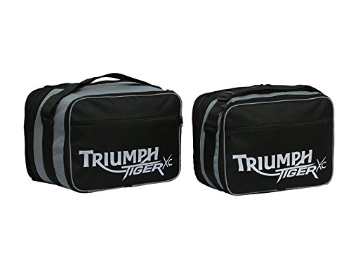 GREAT BIKERS GEAR - Triumph Tiger 800 / 800Xc weiß Bedruckte Packtasche Innengepäcktaschen