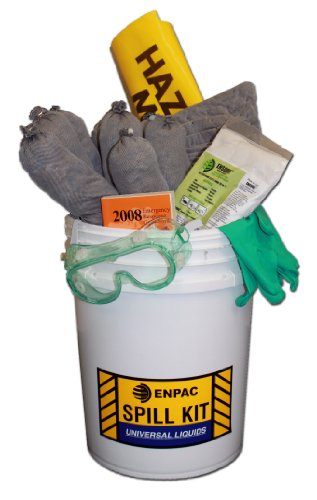 Enpac 1305-BAT 24 Piece 5 Gallon Pail Battery Acid Spill Kit, 9 Gallon Spill Capacity