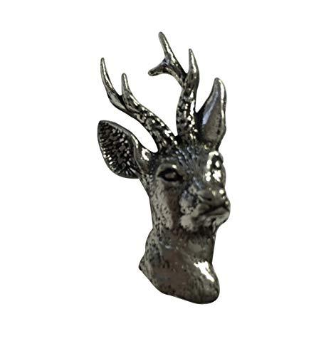 Brazil Lederwaren Ansteckpin Reh   für den Hut oder das Revers   Perfekt zum Jagd-Outfit   Anstecker Pin Button