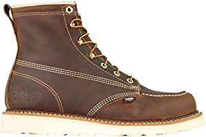 """Thorogood Men's 814-4203 American Heritage 6"""" Moc Toe, MAXwear Wedge Non-Safety Toe Boot, Trail Crazyhorse - 10 D US"""