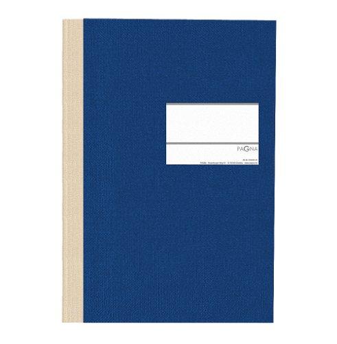 Pagna 14212-02 Geschäftsbuch PNA CLASSICA A4 Papiereinband mit Leinenstruktur, Geweberücken 96 Blatt, kariert, Farbe: blau