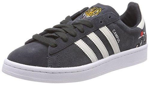 adidas Unisex-Kinder Campus Sneaker, Grau (Carbon/Talc/Footwear White), 38 2/3 EU