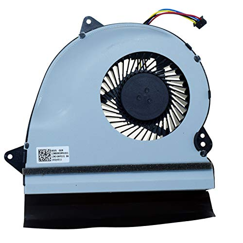 DREZUR Ventilador de CPU compatible con Asus GL552 GL552L GL552J GL552JX GL552V GL552VW FX51V ZX50 ZX50J ZX50JX ZX50VX fx-Plus 4720 Series portátil