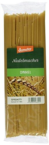 Demeter Nudelmacher Dinkel Spaghetti, 3er Pack (3 x 500 g)