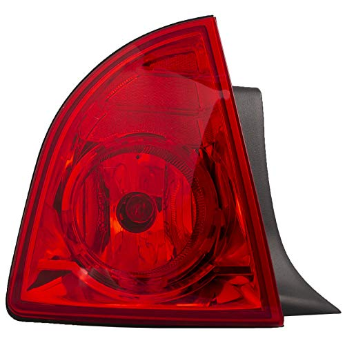 HEADLIGHTSDEPOT Tail Light Compatible with Chevrolet Malibu 2008-2012 Hybrid LS LT Includes Left Driver Side Tail Light