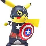 YXCC Hada/Deadpool/Capitán América/Pikachu Estatua del Guerrero Negro Pokemon COS Naruto Estatua en Caja Decoración Pokémon