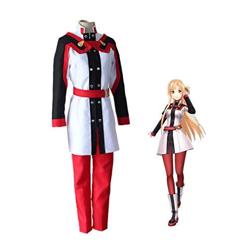 LCHENX-Anime Sword Art Online Ordinal Scale Asuna Yki Traje de Cosplay Uniforme de Fiesta de Juego de Halloween,Rojo,S
