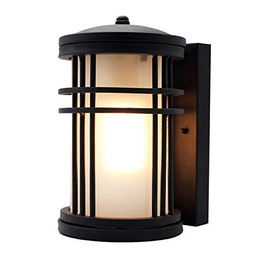 WTL Lighting Lampe murale simple moderne en fer, lumières rétro extérieures de jardin, lampe de terrasse lampe de mur de balcon, décoration imperméable, éclairage extérieur