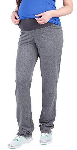 Mija – Pantalons de maternité décontractés tr?s confortable Pantalons Pantalon de sport 1010 (EU 38, Foncé Gris)