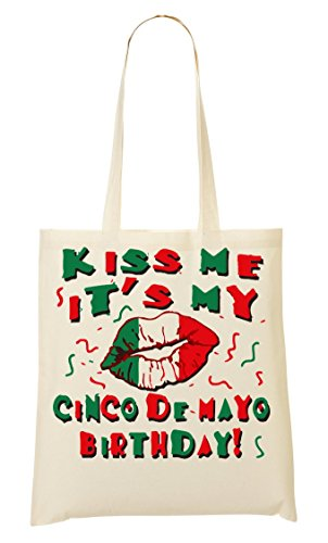 Kiss It'S My Cinco De Mayo Birthday ! Bolso De Mano Bolsa De La Compra