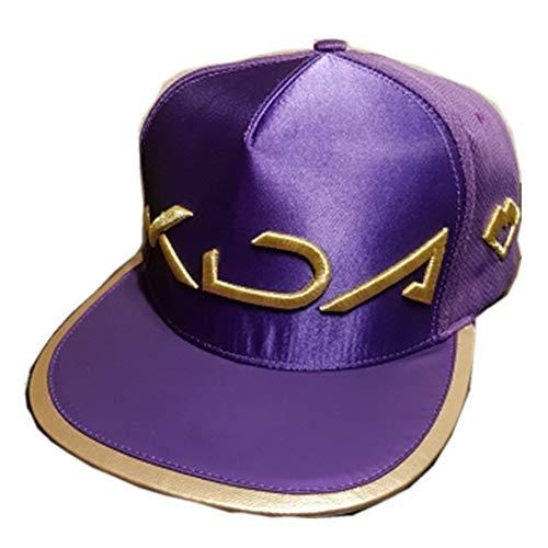 Lonme Niña Sombreros y Gorras Gorra de Sombrero KDA Cosplay Wigs Hair Women Akali Hat Cap Halloween (Hat)