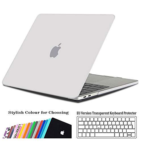 iNeseon Hülle für MacBook Pro 15 (2016-2019 veröffentlicht), Superdünner Hartschale Schutzhülle Hülle + Tastaturschutz für neueste MacBook Pro 15 Zoll Touch Bar(A1707 A1990), Matt Weiß