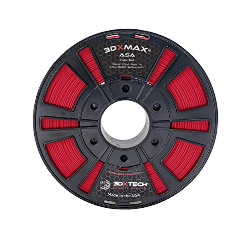 3DXMAX ASA, 1KG (Red, 1.75mm)