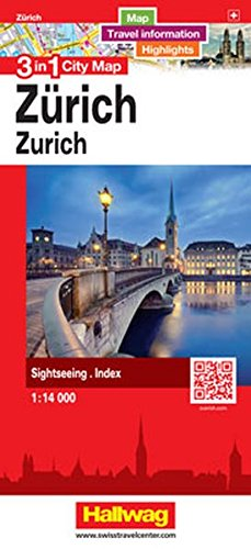 Zürich 3 in 1 City Map: Map, Travel information, Highlights, Sightseeing, Index (City Map 3 in 1)