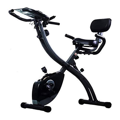 CHENYE Bicicleta estática, Cubierta Plegable magnético silencioso Control de la Aptitud de la Bicicleta con tracción por Cable y Asiento Ajustable, Ajustable Resistencia, Control de Las pulsaciones