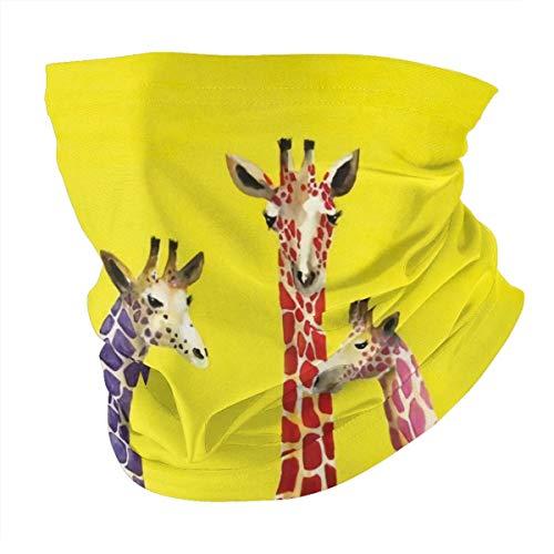 Giraffe Bandana-Unisex Face Scarf Bandana Ear Loops Face Rave Balaclava Men Women Neck Gaiters for Dust Wind Sun UV Motorcycle Mask