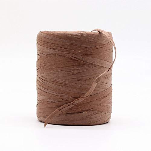 Hilo de Rafia Natural Crochet a Mano Bolso de Rafia Plegable Sombrero Moda Verano Cuerda de Cinta de Rafia para Tejer a Mano Sombreros de Paja de Rafia