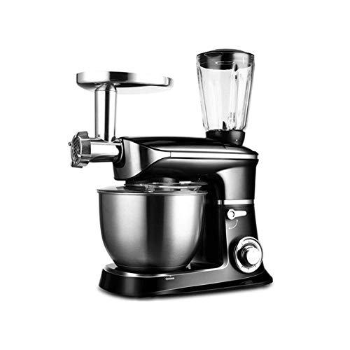 Batidora de pie 3 n 1 Multi Funcional Cocina máquina planetaria de Mezcla Acción 6 1300W Velocidad del Mezclador eléctrico de Cocina YCLIN (Color : Black)