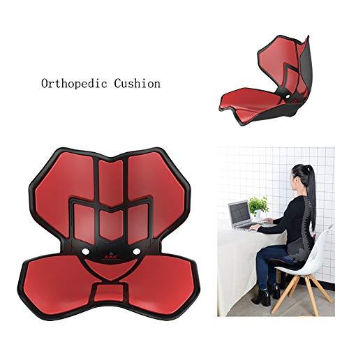Sitzkissen, Ausgelegt für Rückenschmerzen, Lendenwirbelstütze Verbesserung der Körperhaltung Stuhl Pad, für Auto/Büro/Harter Oberflächen, Außenflächen, bewegliche, wasserdicht,Rot