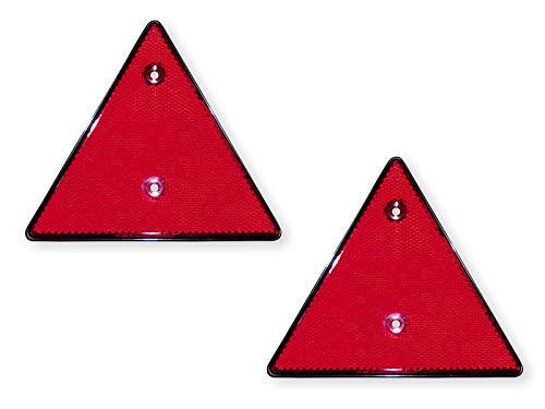 LAS 10210 Dreieck-Reflektor zum Schrauben, 2 Stück in schwarz/roten Reflektoren,14 cm x 16 cm