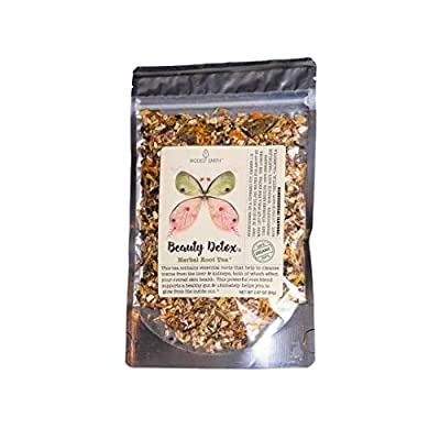 Modest Earth Beauty Detox Tea   100% Organic Glowing Skin Home Routine   Liver Cleansing & Detoxifying Aid   Clear Acne, Natural Wrinkle Remedy   Anti Aging Antioxidant Drink   20+ Servings (2.97 OZ) by Modest Earth