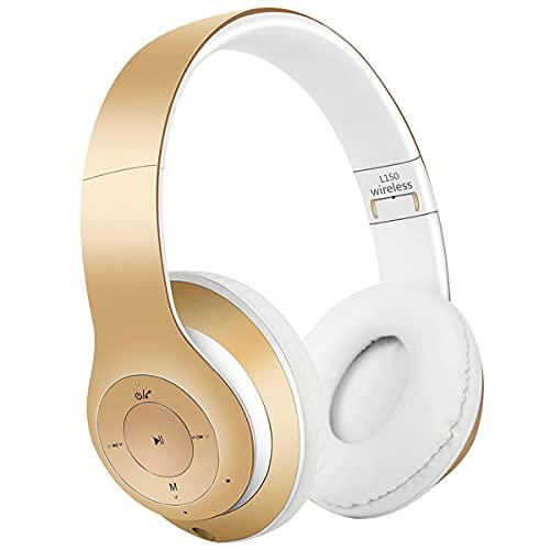 COOLEAD Over Ear - Auriculares inalámbricos con Bluetooth, auriculares in-ear, estéreo, plegables, con micrófono, para niños, para PC, iPhone, iPad, iPod, Samsung, LG, Tablet, MP3, ordenador