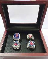 YIYICOOL BT N 2004-2018 Red Sox World Series Baseball Championship Rings Set Size 11 (4 Years Ring (Style 1))