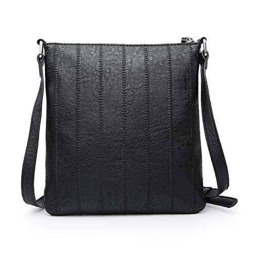 seOSTO Crossbody Handbag for Women Leather RFID Blocking Small Purse With Credit Card Slots