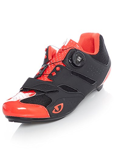 Giro Savix Road, Scarpe da Ciclismo Uomo, Bright Red Black, 41.5 EU